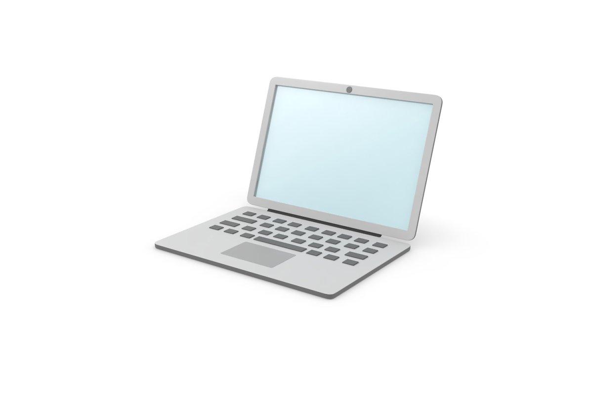 Laptop simple cartoon clean