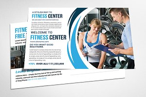 Health Fitness Postcard Psd