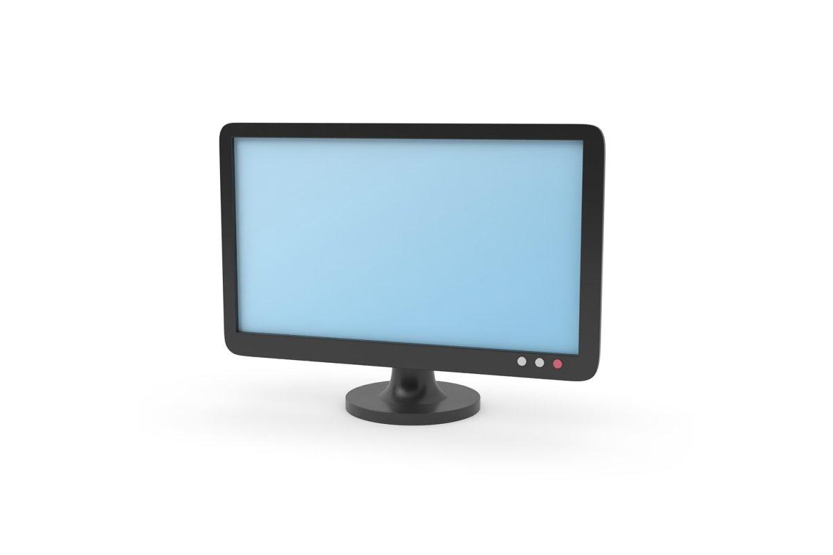 TV screen monitor, simple cartoon