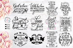 Bible Verses Bundle - Faith SVG Cut