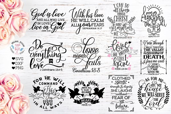 Bible Verses Bundle Faith Svg Cut Pre Designed Photoshop Graphics Creative Market