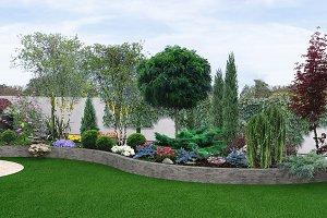 Two tier garden creating, 3d