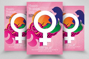 Women's Day Psd Flyers Templates