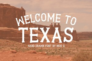 Welcome To Texas Font