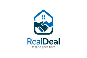 Real Estate Deal Logo Template