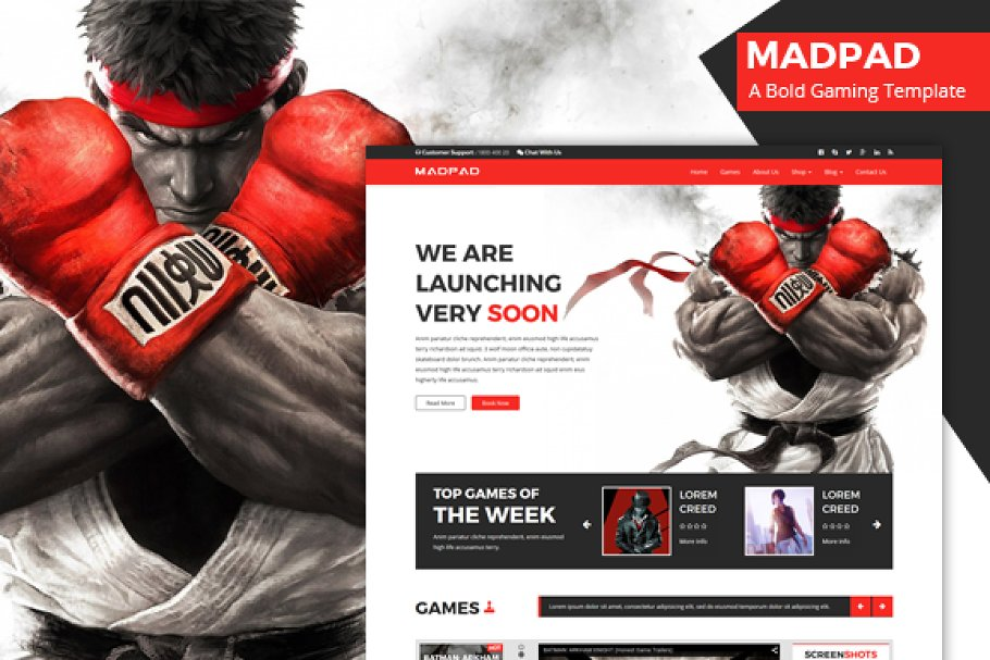 Madpad - A Bold Gaming Template
