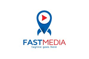 Fast Media Player Logo Template