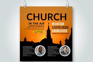 Church Flyer Template/ Square Shape