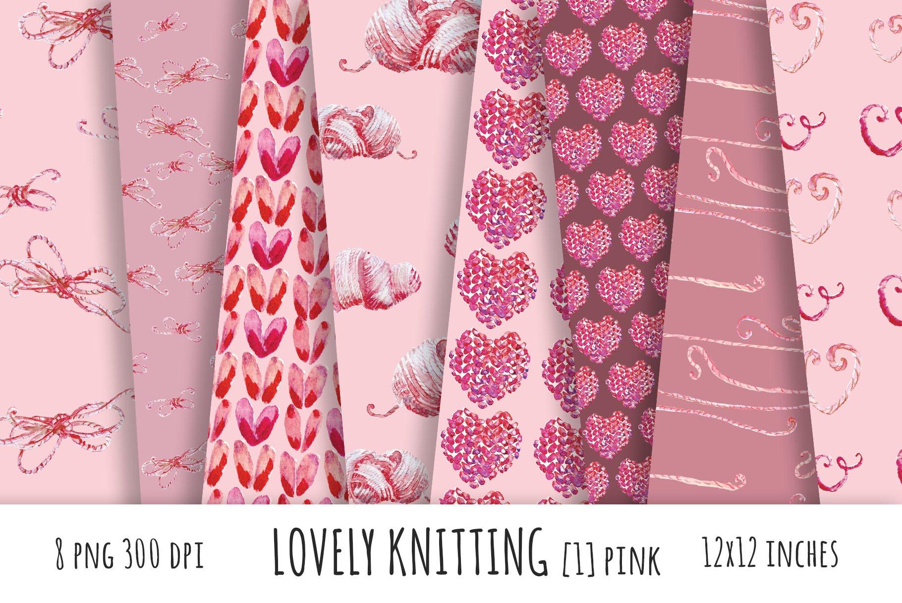 Lovely Knitting Rose Digital Papers Custom Designed Graphic Patterns Creative Market