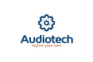 Audio Tech Logo Template