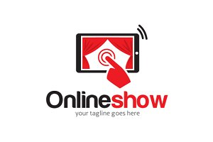 Online Live Show Logo Template