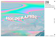 Holographic Glitch Abstract Textures by  in Textures
