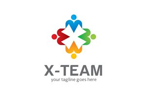 X-team Logo Template