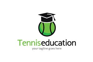 Tennis Education Logo Template