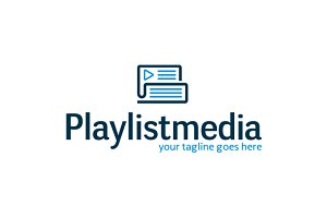 Play List Media Logo Template