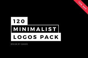 120 Minimalist Logos Pack