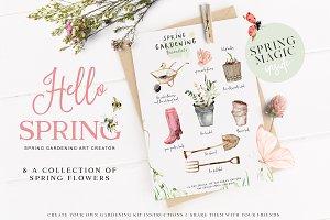 Hello Spring - Gardening Graphics