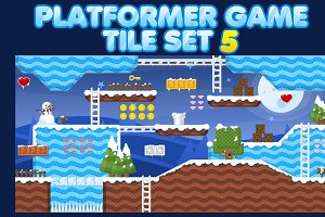 Platformer Game Tile Set 5