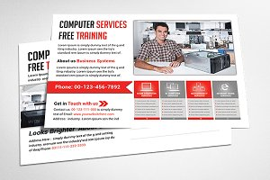 Computer Repair Postcard Templates