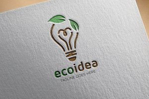 Eco Idea Logo Template