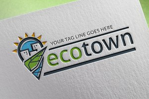 Eco Town Logo Template