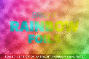 Bright Rainbow Foils