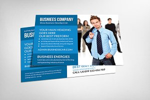 Corporate Post Card Template