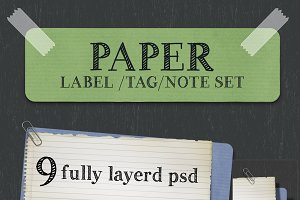 Paper Lable/Tag/Note set