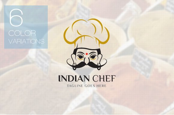 Indian Food Logo Template ~ Logo Templates ~ Creative Market