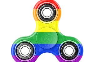 Fidget spinner with Rainbow flag the