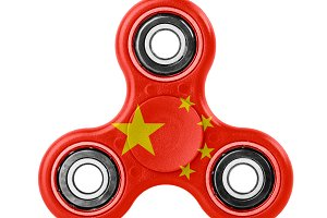 Fidget spinner with China flag theme