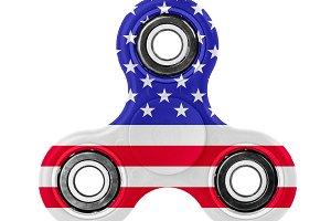 Fidget spinner with USA flag theme