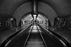 London Underground Escalator