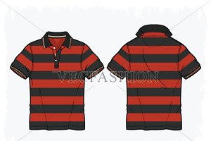 Men Golf Shirt Vector Clothing Templ