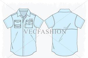 Men Fishing Shirt with Tech Pockets