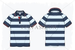 Men Polo Shirt with Raglan Sleeve