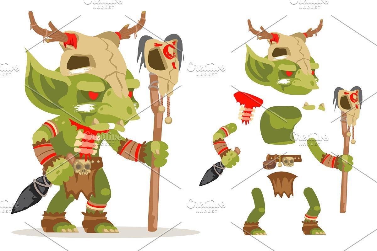 Shaman goblin RPG game character