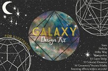 Galaxy Design Kit for Illustrator by Alaina Jensen in Palettes