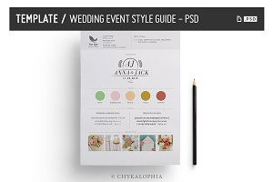 Wedding/Event Style Guide - PSD