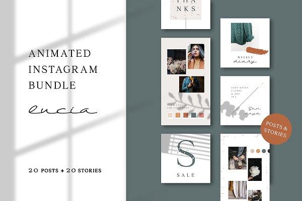 Social Media Templates: AgataCreate - ANIMATED Instagram Bundle – Lucia