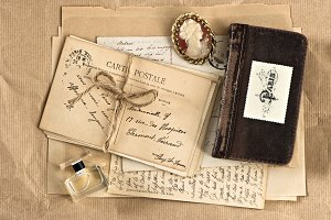 Old letters and postcards