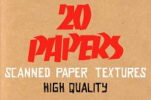 20 Paper Textures by  in Textures