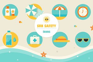 Sun Safety Infographics Elements
