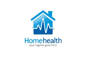 Mammoth logo template logo templates on creative market - Home health care logo design ...