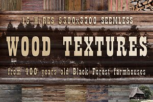 Wood Dark Retro Background Bundle