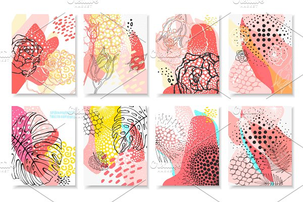 Abstract floral collection