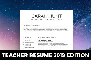 Teacher Resume Template 2019