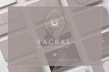 Sacral- Brand Kit by  in Logos