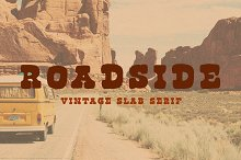 Roadside   Vintage Slab Serif