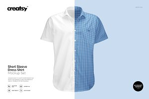 Short Sleeve Dress Shirt Mockup